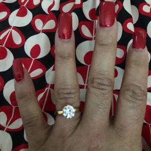 Jewelry - Rose Gold Italiana White Sapphire Ring